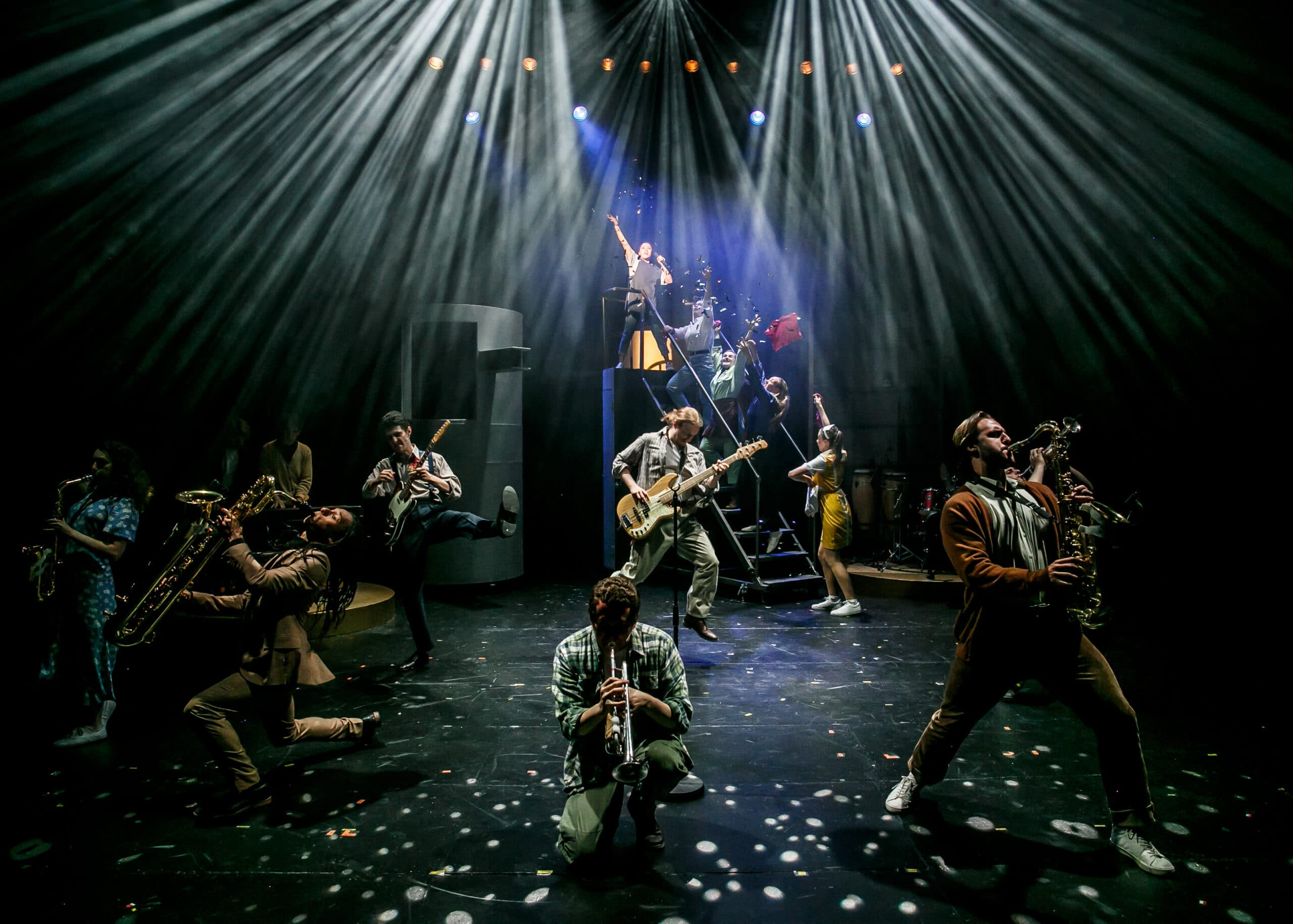 Rose Bruford College students performing in Working the Musical